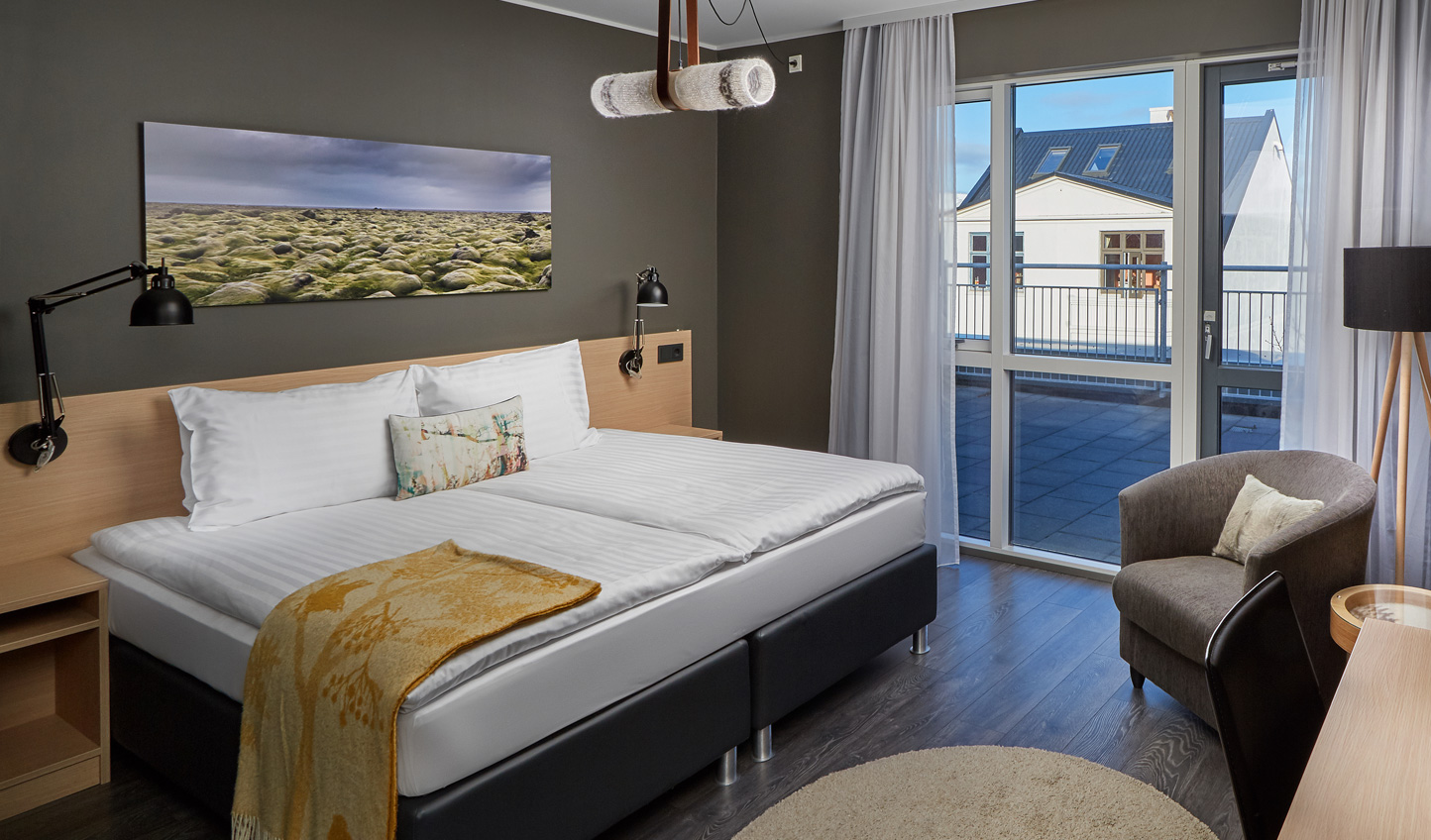Step out onto your balcony for views across Reykjavik