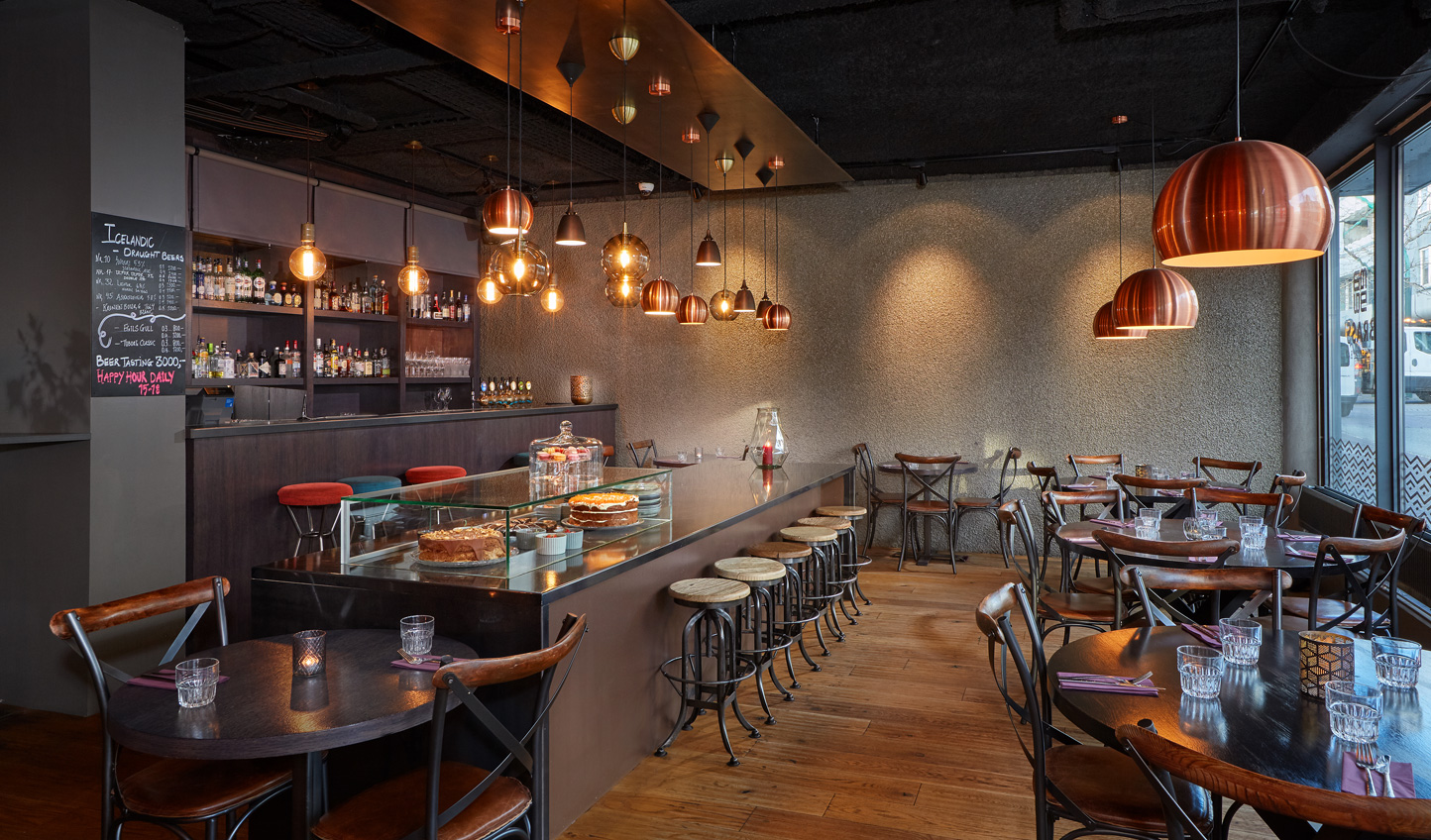 Pull up a chair at Brass for traditional cuisine throughout the day