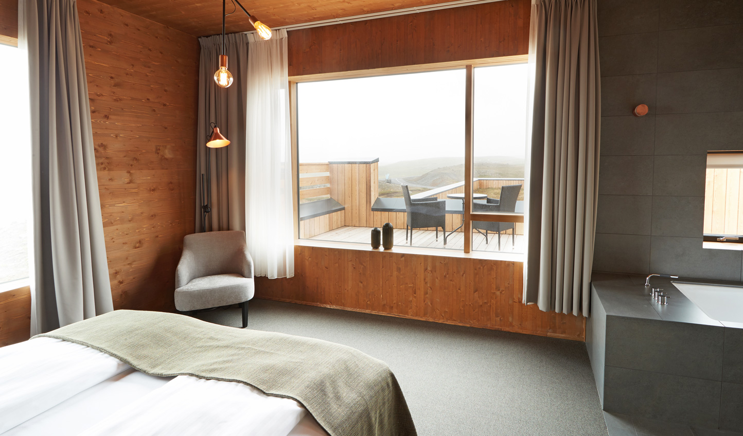 Wake up to views across the Myvatn landscapes