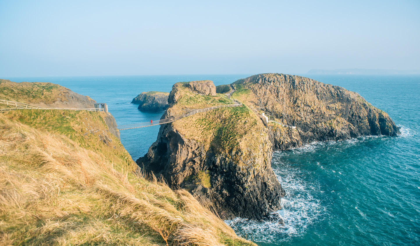 Test your nerve at Carrick-a-Rede before going in search of fossils