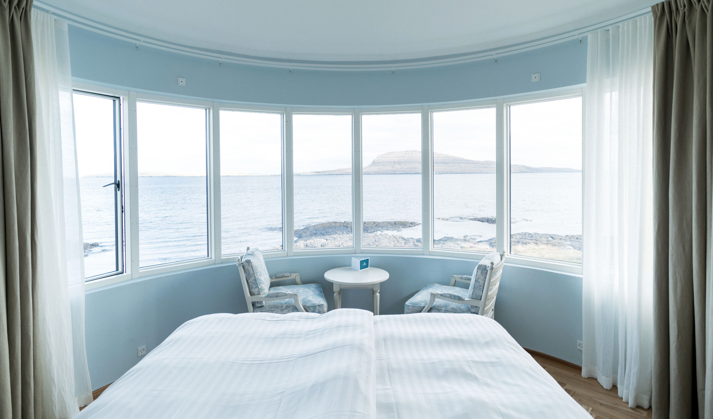 The Commodore Suite boasts an unrivalled view to wake up to