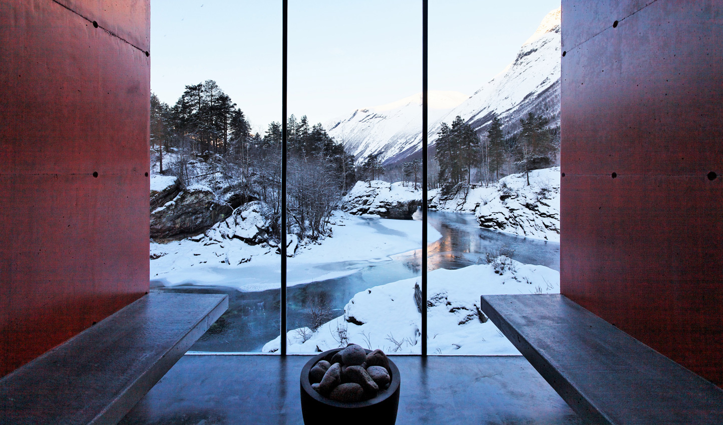 Warm up in the spa with wintry views beyond