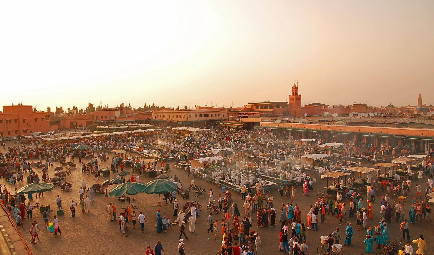 Kickstart your trip amid the bustle of Jemaa el Fna in Marrakech