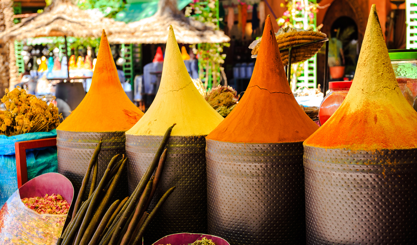 Inhale the scent of the spices in the souks