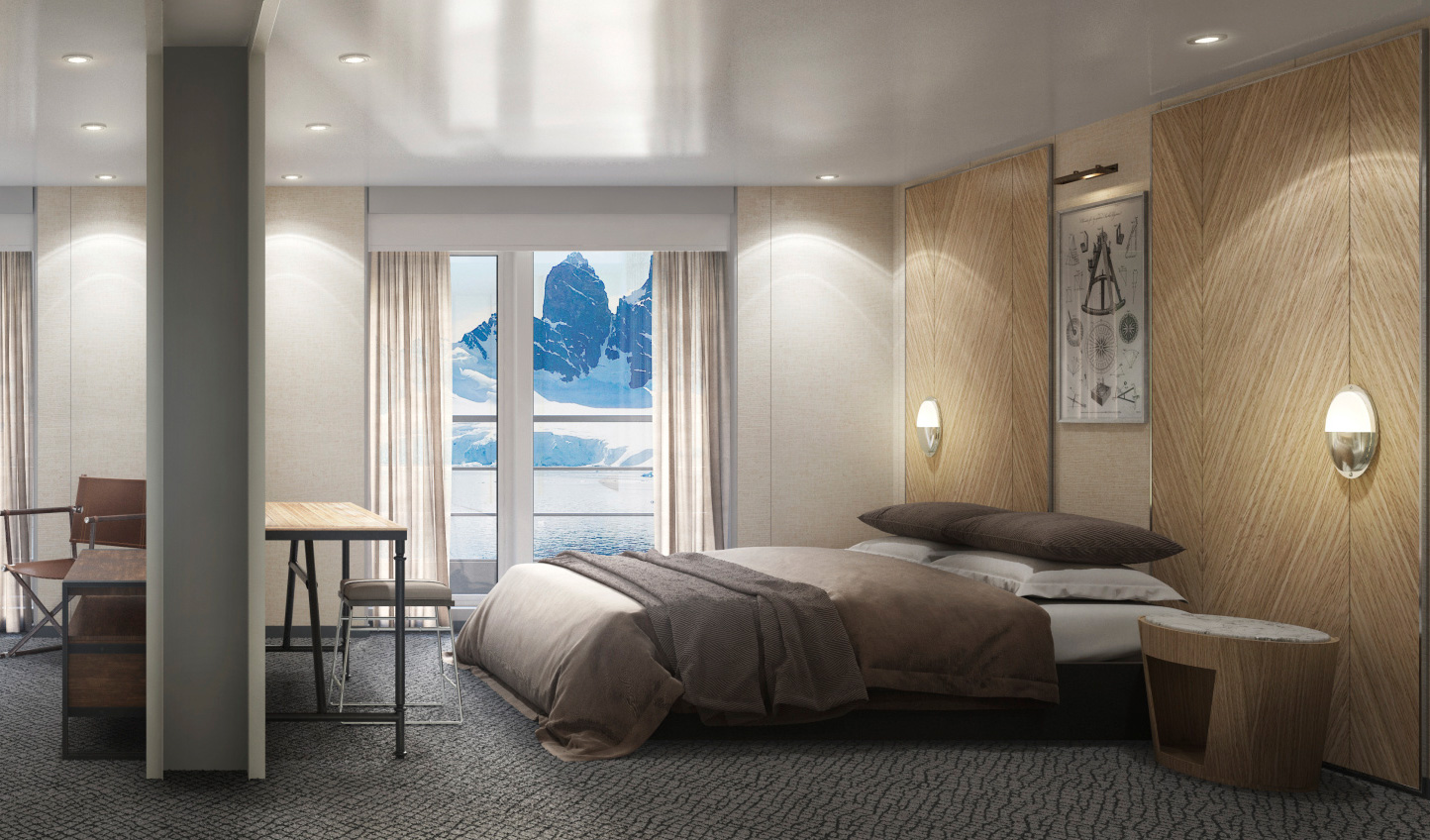 Sleek, elegant design that brings luxury to the frozen continent