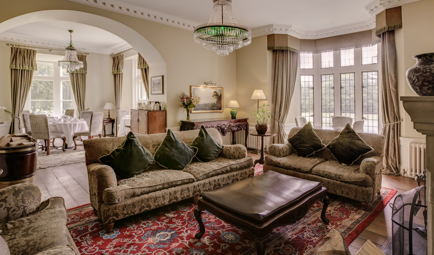 Curl up in the Emerald Drawing Room with a good book or fine Irish whiskey