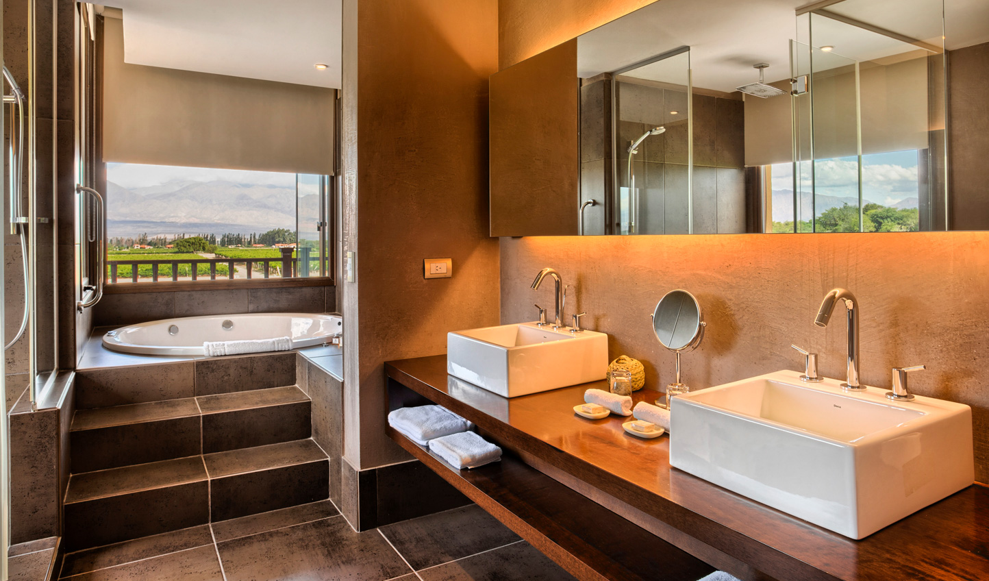 Grace Cafayates spacious rooms each feature luxe bathrooms