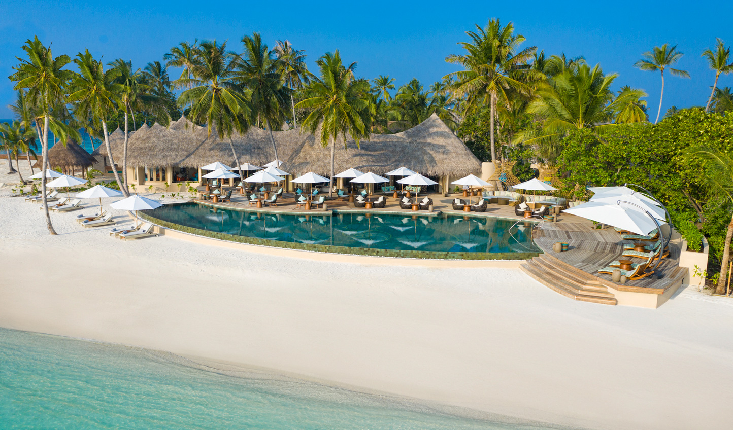 Relax by the pool or stroll along the pristine sands