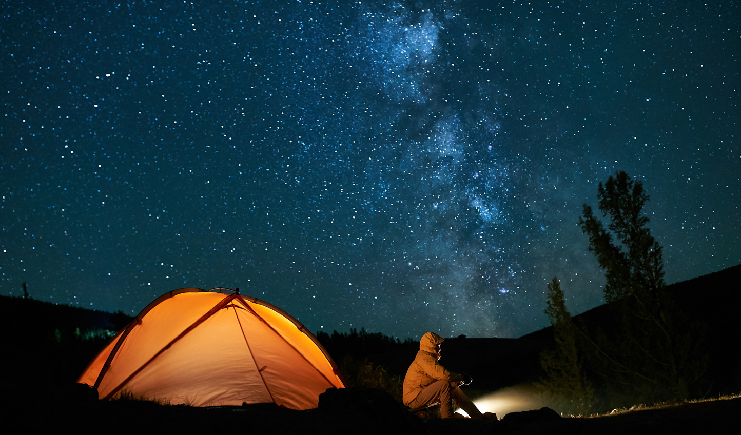 Luxury private camping under a sky full of stars