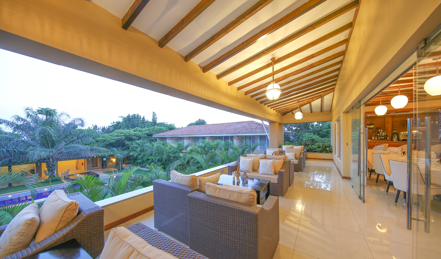Set on a quiet lane in the heart of Entebbe