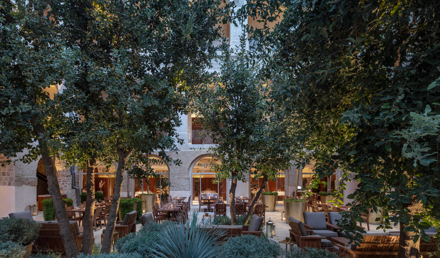 Dine out in the courtyard at Italian Don Camillo