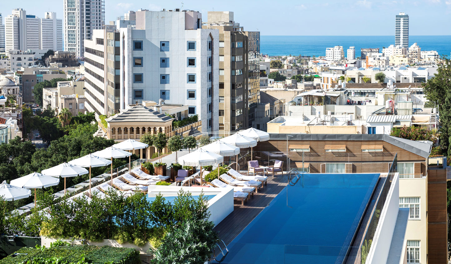 Relax in the Mediterranean sunshine at The Norman's rooftop infinity pool