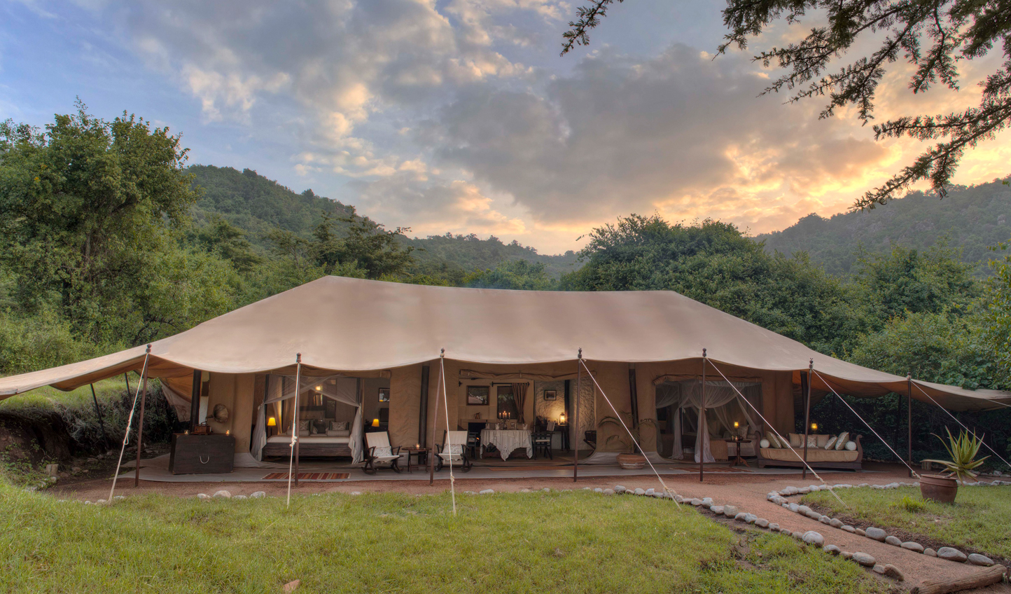 Luxurious canvas tents promise a good night's sleep