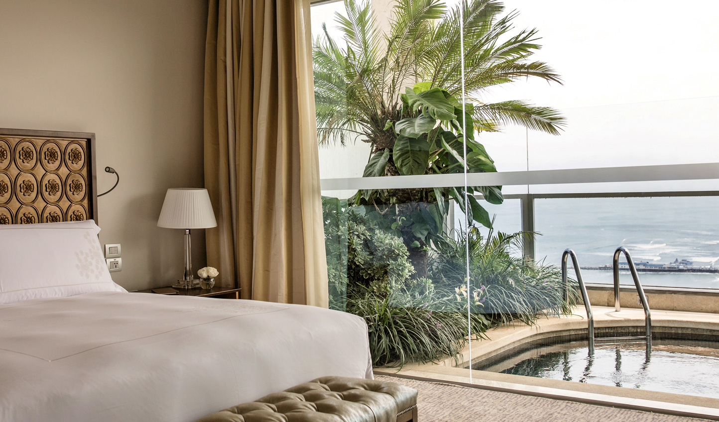 Soak up the best views in the city from the Presidential Pool Suites