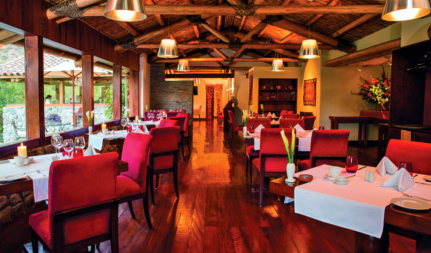 Ingredients grown in the hotel's organic gardens goes into Peruvian fusion cuisine at El Huerto