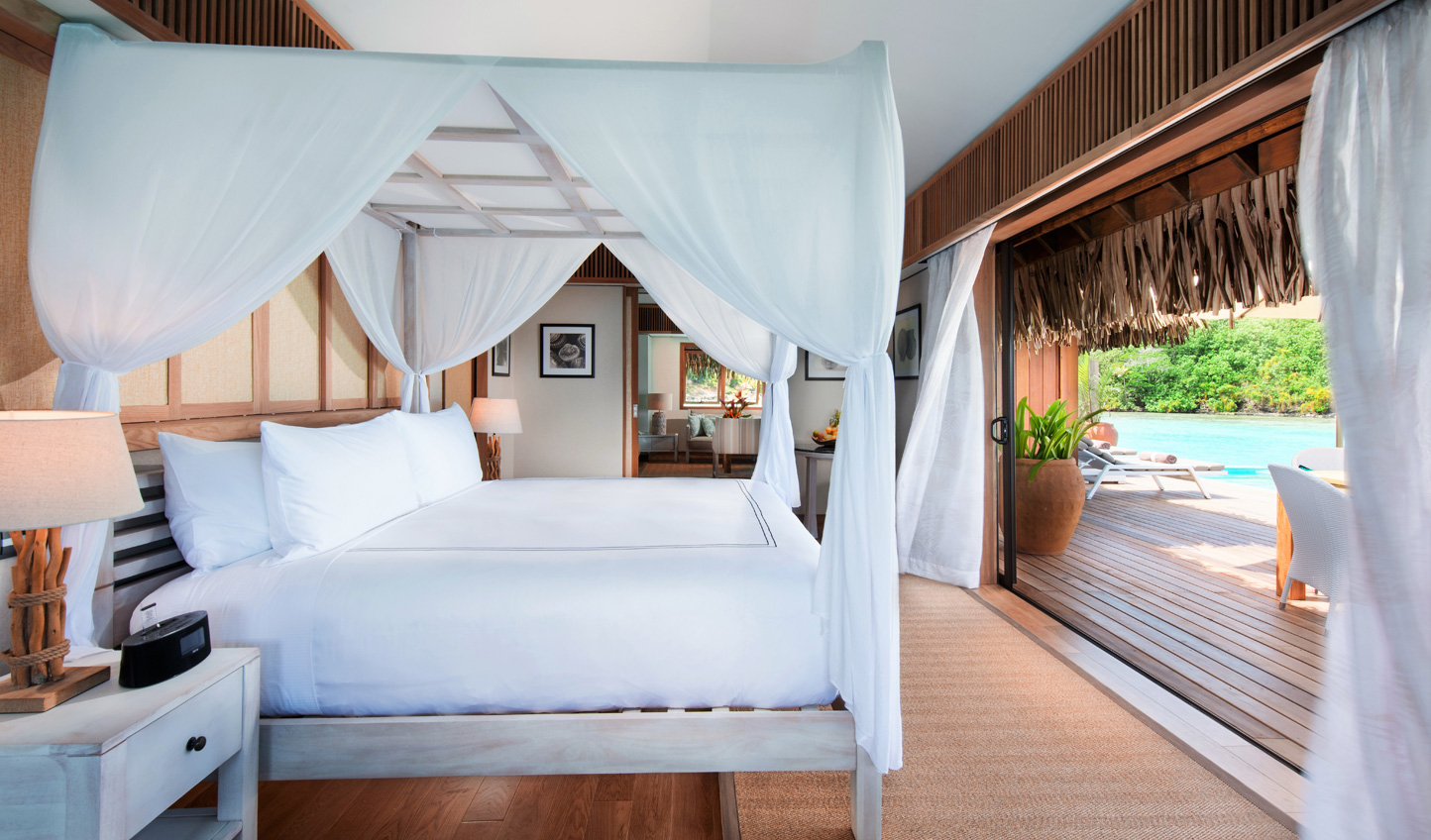 Wake up to views across the lagoon