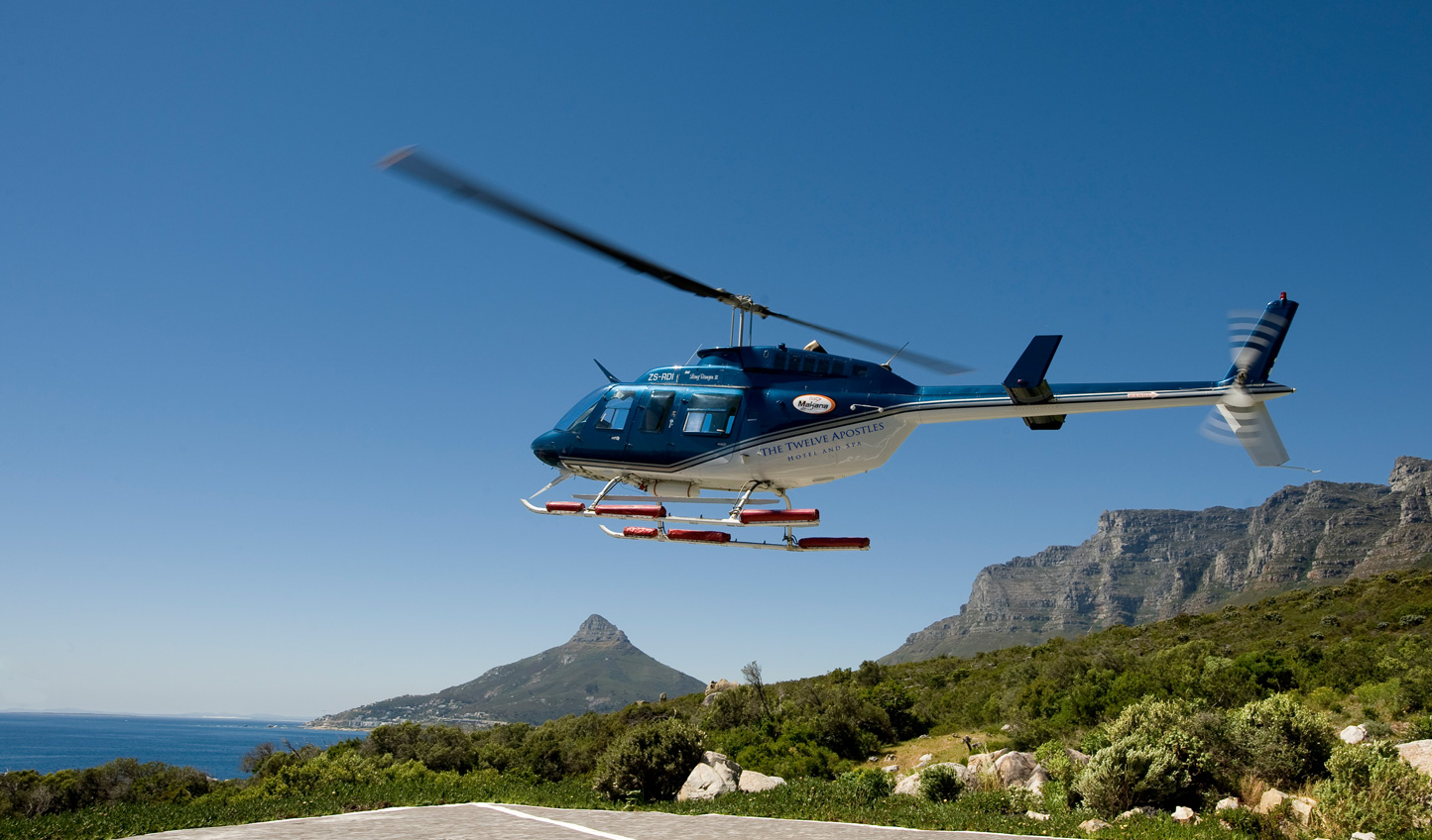 Enhance your experience with a helicopter flight taking off directly from the hotel