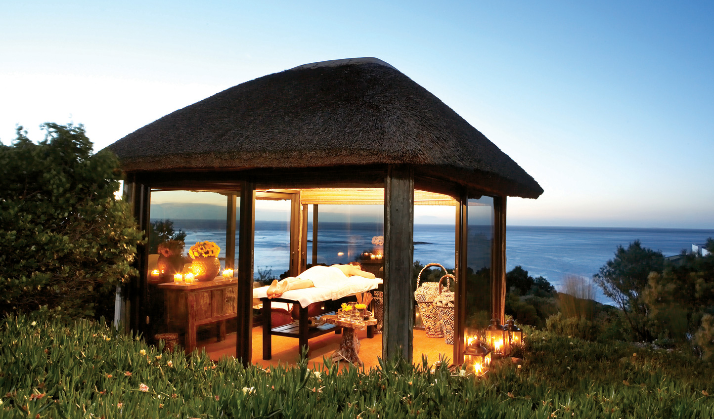 Melt away with a spa treatment with a view
