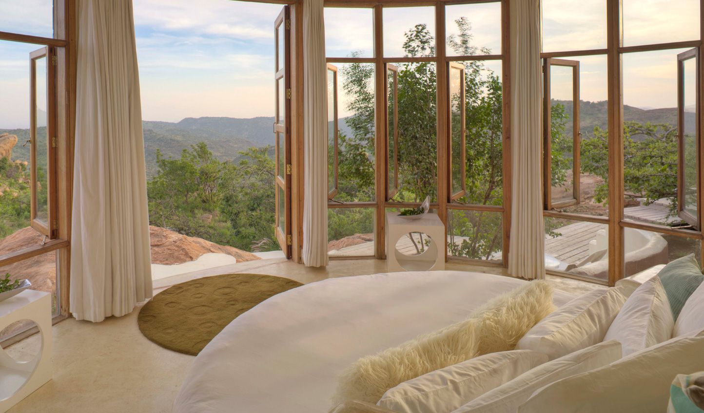 Wake up to views across Laikipia from the Eyrie at Ol Lentille