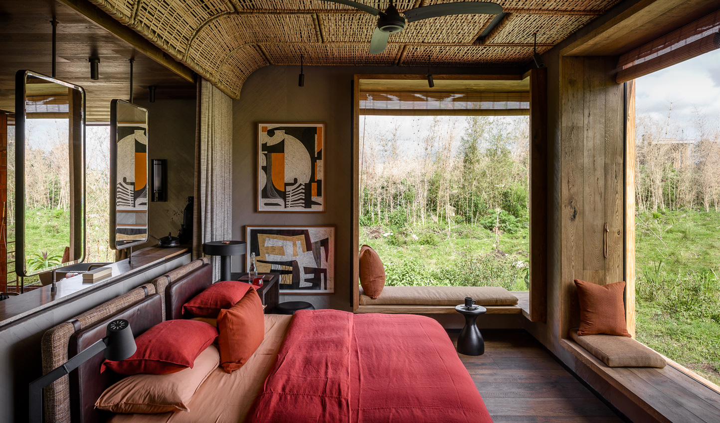 Bold colours and traditional design bring Africa to life in each of the eight suites