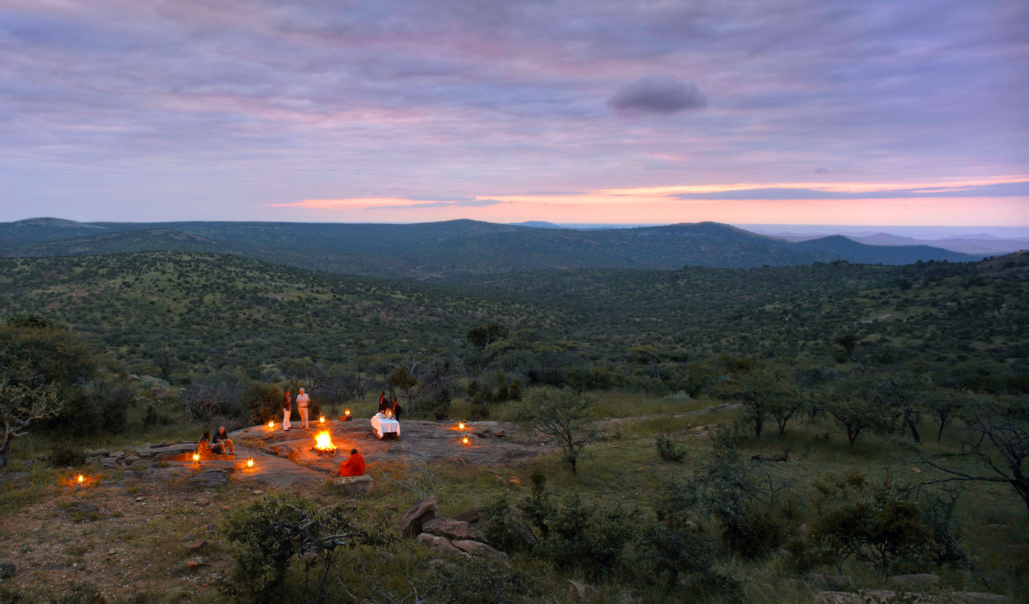Enjoy sundowners out in the bush