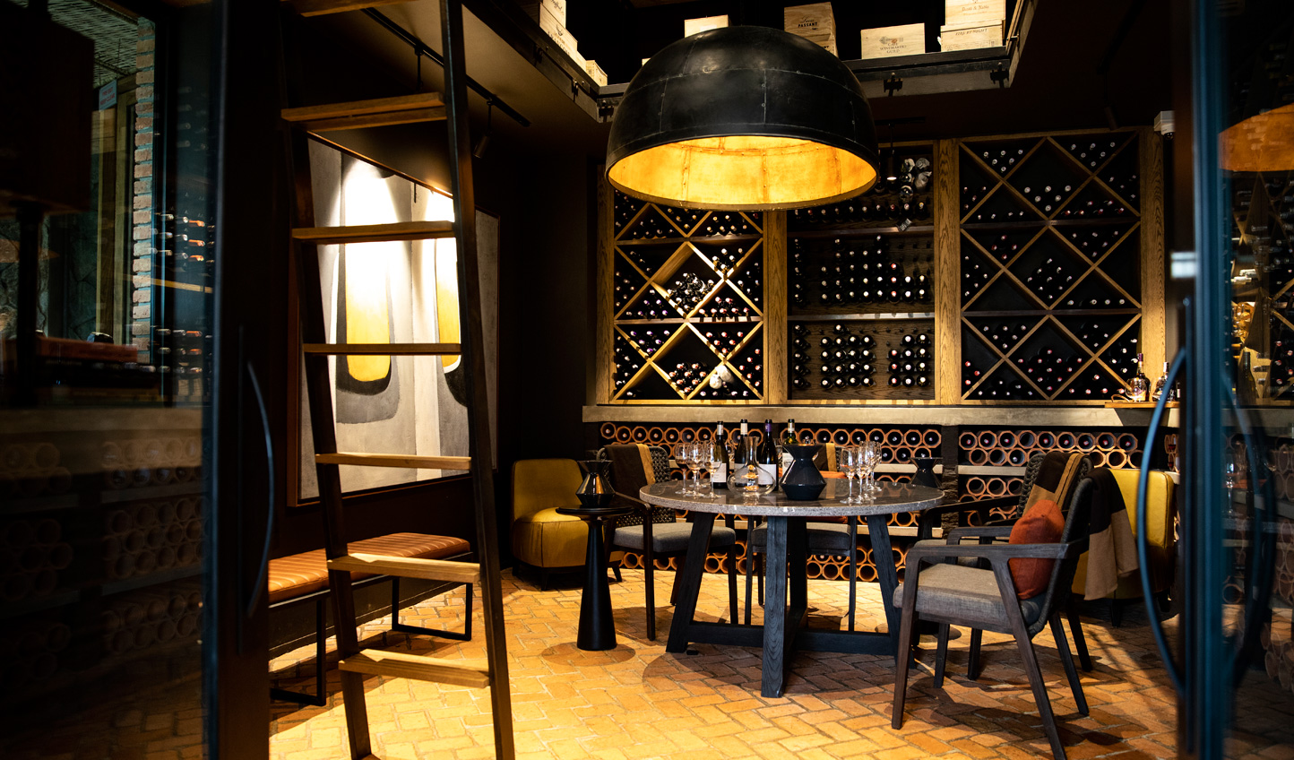 Slip down into the wine cellar and find the perfect complement to the evening