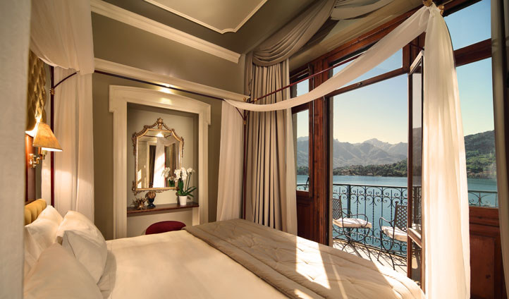Bed down at Grand Hotel Tremezzo and enjoy views across the lake