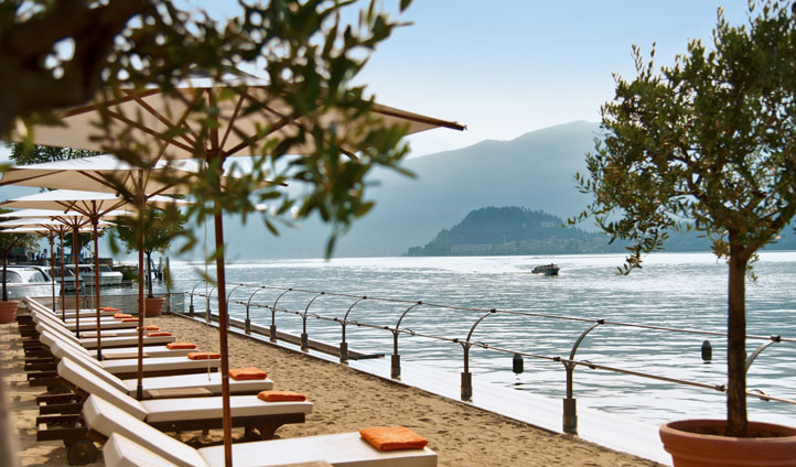 Save some time to relax on Tremezzo's very own 'beach'